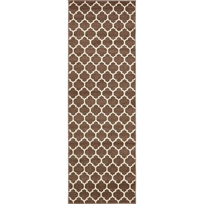 Emjay Light Brown Area Rug Rug Size: Runner 27 x 8