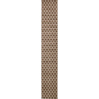 Emjay Light Brown Area Rug Rug Size: Runner 27 x 165
