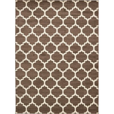 Emjay Light Brown Area Rug Rug Size: 8 x 11