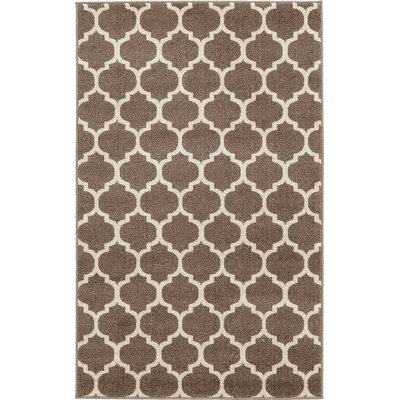 Emjay Light Brown Area Rug Rug Size: Rectangle 33 x 53