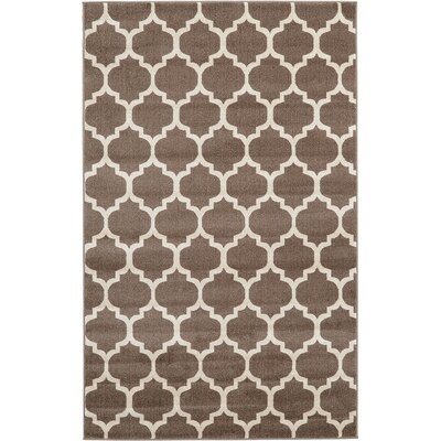 Moore Light Brown Area Rug Rug Size: Rectangle 5' x 8'