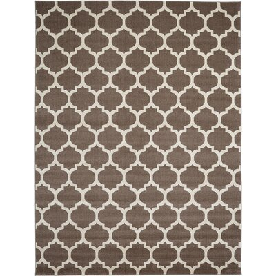 Emjay Light Brown Area Rug Rug Size: 5 x 8