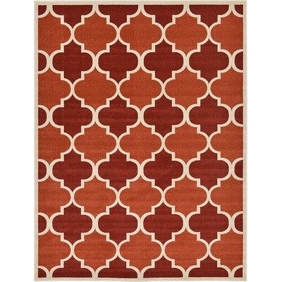 Emjay Terracotta Area Rug Rug Size: 9 x 12