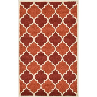 Emjay Terracotta Area Rug
