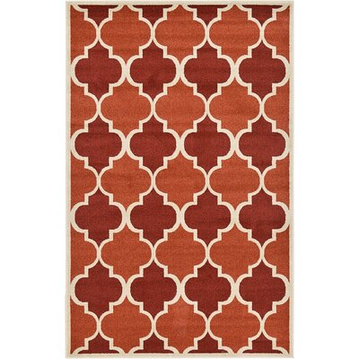 Emjay Terracotta Area Rug Rug Size: 5 x 8
