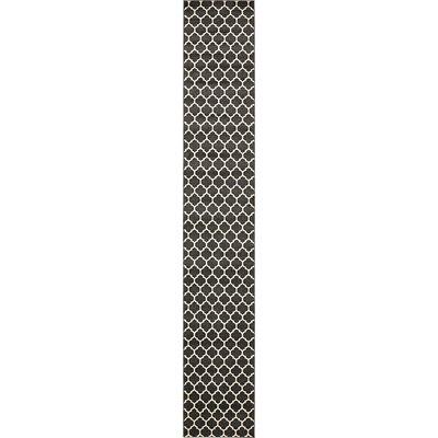 Emjay Black Area Rug Rug Size: Runner 27 x 165