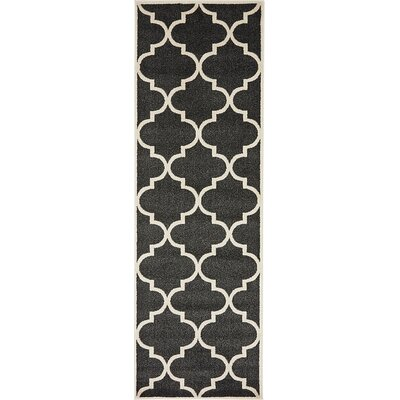 Emjay Black Area Rug Rug Size: 27 x 8