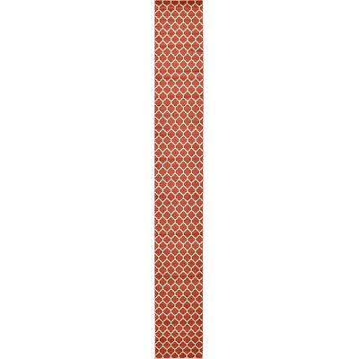 Emjay Light Terracotta Area Rug Rug Size: Runner 2'7