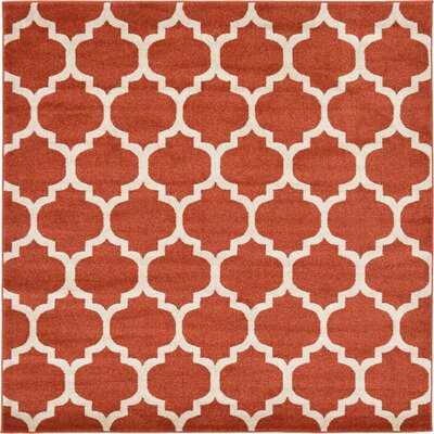 Emjay Light Terracotta Area Rug Rug Size: Square 6'