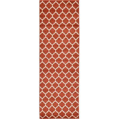 Emjay Light Terracotta Area Rug Rug Size: Runner 2'7