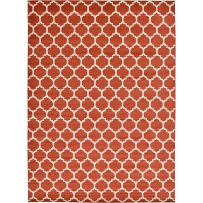 Emjay Light Terracotta Area Rug Rug Size: 13' x 18'
