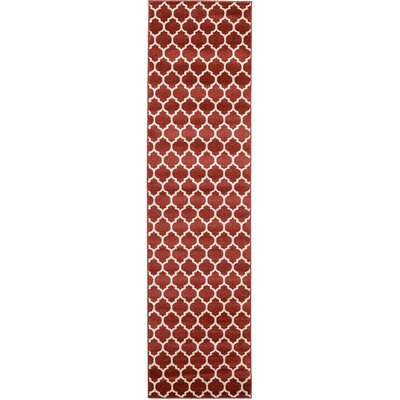 Emjay Rust Red Area Rug Rug Size: Runner 2'7