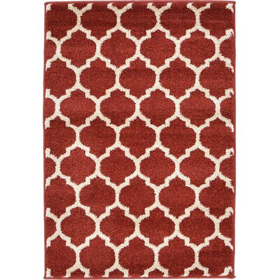 Emjay Rust Red Area Rug