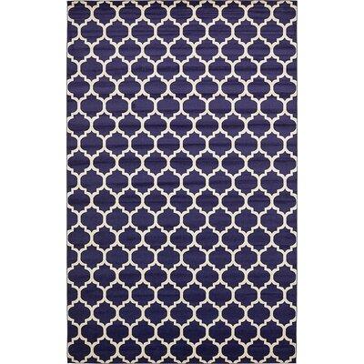 Emjay Navy Blue Area Rug Rug Size: 106 x 165