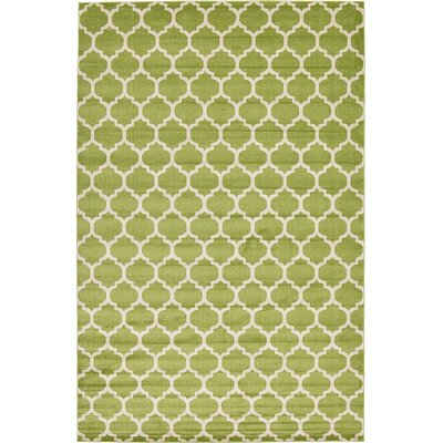 Emjay Light Green Area Rug Rug Size: 106 x 165
