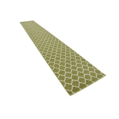 Moore Light Green Area Rug Rug Size: Runner 27 x 8
