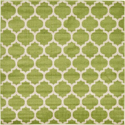 Emjay Light Green Area Rug Rug Size: Square 8