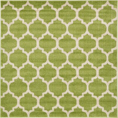 Emjay Light Green Area Rug Rug Size: Square 6