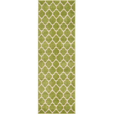 Emjay Light Green Area Rug Rug Size: Runner 2 x 6