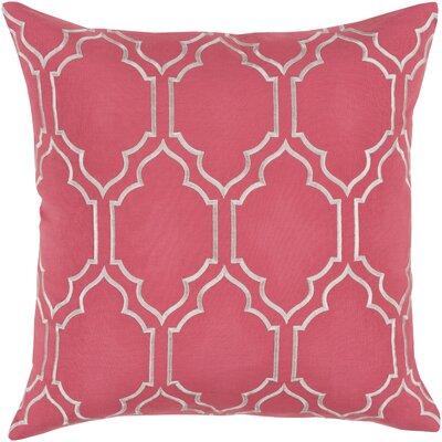 Aditya 100% Linen Throw Pillow Cover Size: 18 H x 18 W x 0.25 D, Color: PinkGray