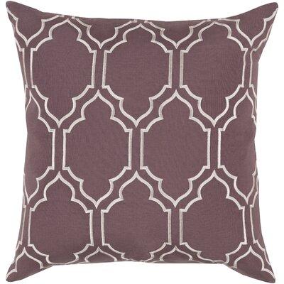 Aditya 100% Linen Throw Pillow Cover Size: 18 H x 18 W x 0.25 D, Color: PurpleNeutral