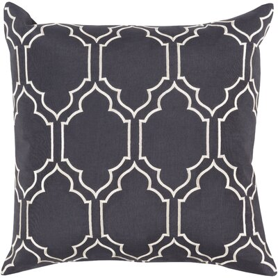 Rye 100% Linen Throw Pillow Cover Size: 18 H x 18 W x 0.25 D, Color: BlueNeutral