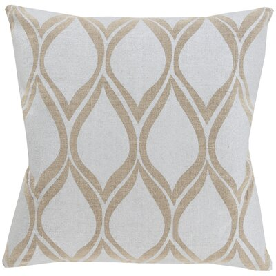 Rye 100% Linen Throw Pillow Cover Size: 20 H x 20 W x 1 D, Color: GrayBrown