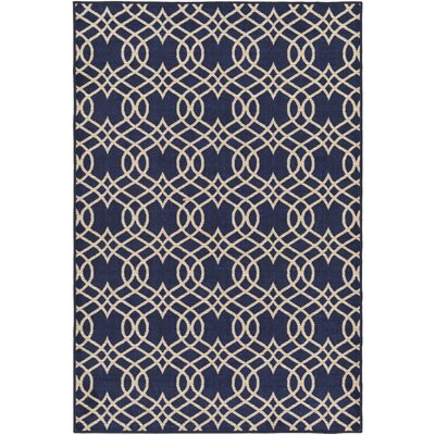 Hardenburgh Blue/Beige Area Rug Rug Size: Rectangle 5 x 8