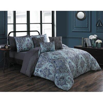 Hudepohl 10 Piece Bed in a Bag Set Size: King, Color: Blue