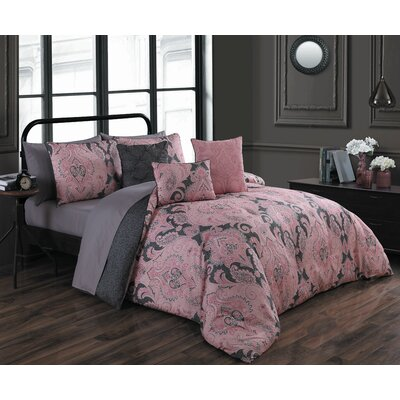 Hudepohl 10 Piece Bed in a Bag Set Size: Queen, Color: Pink