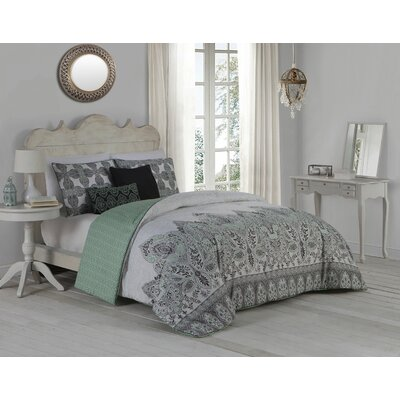 Huebert 5 Piece Comforter Set Size: King, Color: Mint