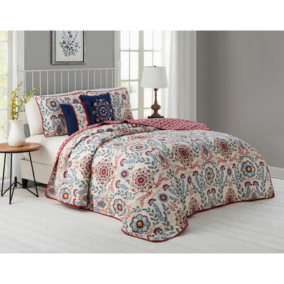 Inglenook 5 Piece Quilt Set Size: Queen