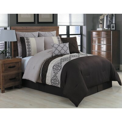 Inniss 8 Piece Comforter Set Size: Queen, Color: Taupe