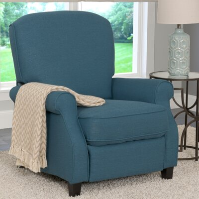 Brickhill Manual Recliner Upholstery: Blue