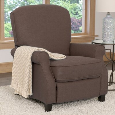 Brickhill Manual Recliner Upholstery: Brown