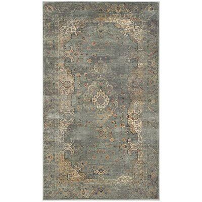 Obrien Gray Area Rug Rug Size: Rectangle 33 x 57