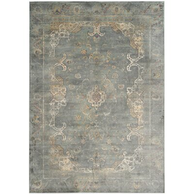 Obrien Gray Area Rug Rug Size: 76 x 106