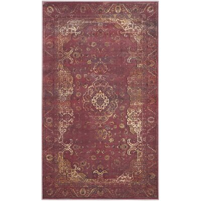 Odin Fuchisa Area Rug Rug Size: Rectangle 53 x 76