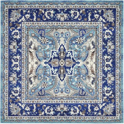 Tatham Blue Area Rug Rug Size: Square 84