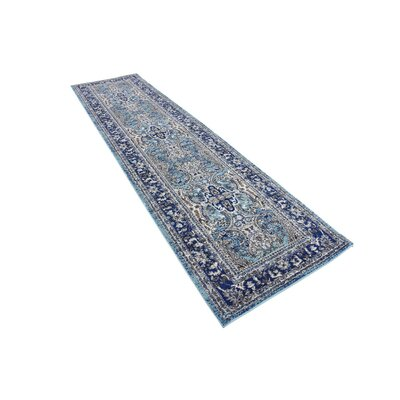 Tatham Blue Area Rug Rug Size: 27 x 10