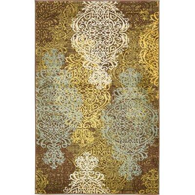 Marengo Brown Area Rug Rug Size: 33 x 53