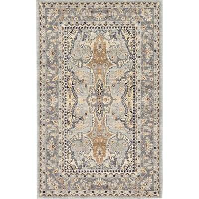 Mariel Silver Area Rug Rug Size: Rectangle 5 x 8