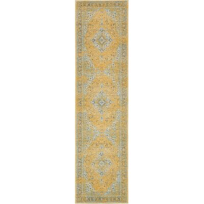 Marine Yellow Area Rug Rug Size: Runner 2'7