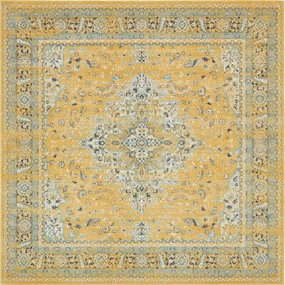 Marine Yellow Area Rug Rug Size: Square 8'4