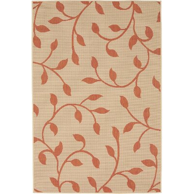 Nesbitt Beige/Terracotta Outdoor Area Rug