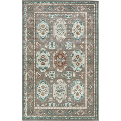 Knipp Gray Area Rug Rug Size: 5' x 8'