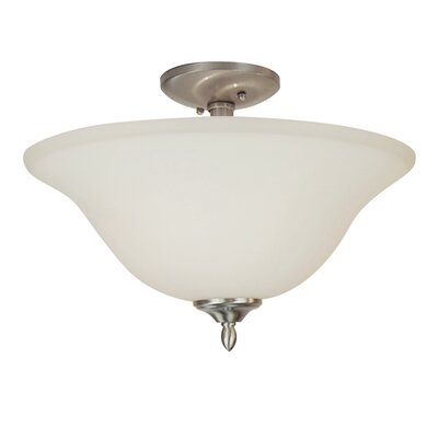 Lansford 2-Light Semi Flush Mount Finish: Nickel