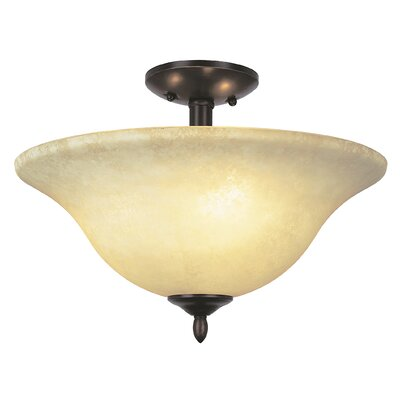 Lansford 2 Light Semi Flush Mount