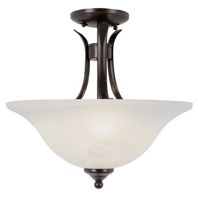 Lansford 2-Light Semi Flush Mount Finish: Bronze
