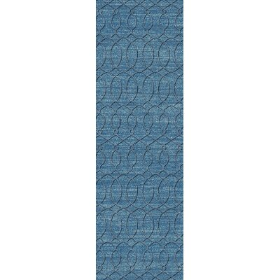 Grange Aqua Area Rug Rug Size: Runner 26 x 8